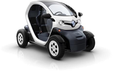 El Renault Twizy, un biplaza eléctrico asequible.