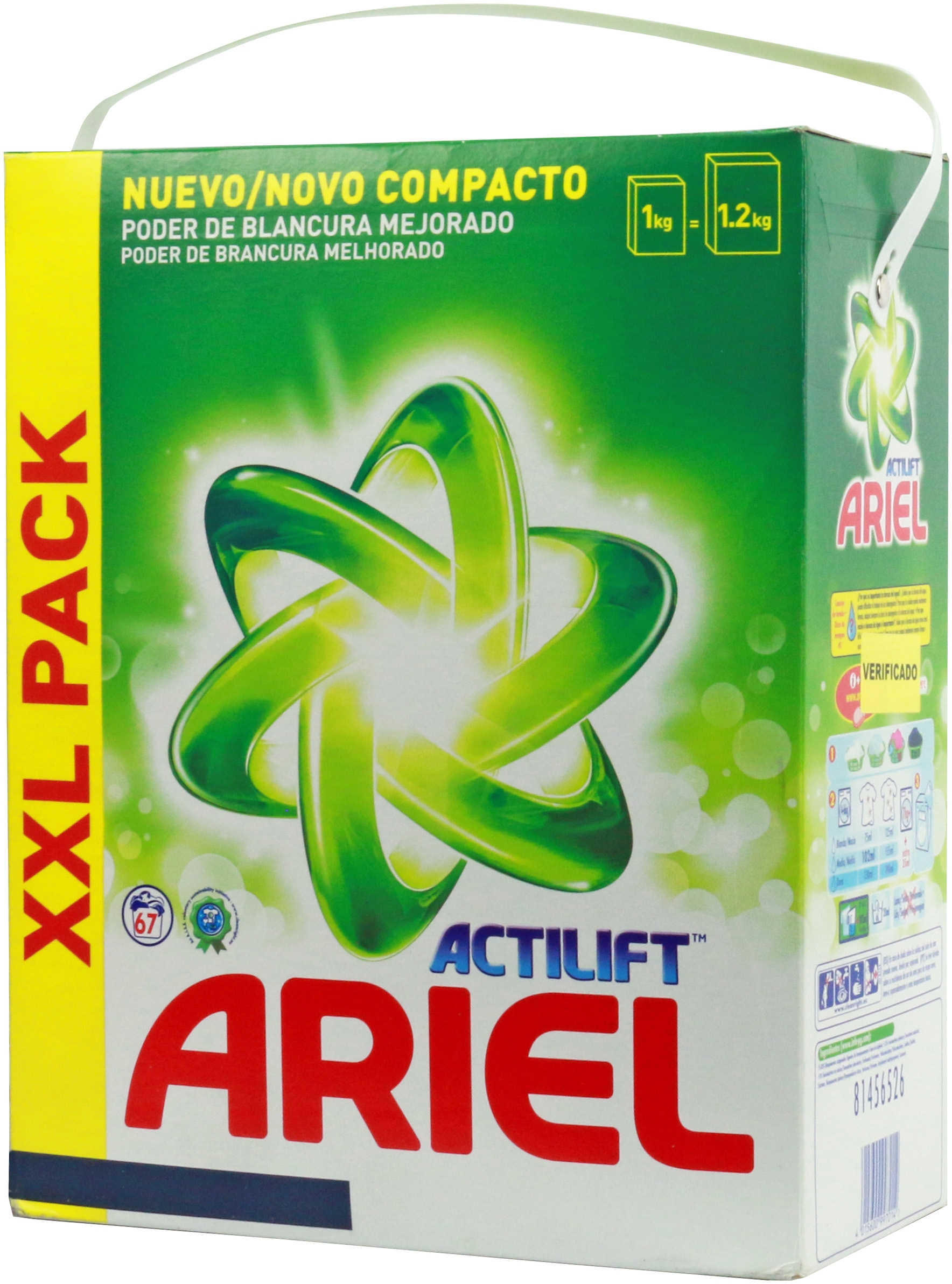 An Lisis De Ariel Actilift En Polvo Comparador De Detergentes  ~ Mejor Detergente Lavadora Calidad Precio